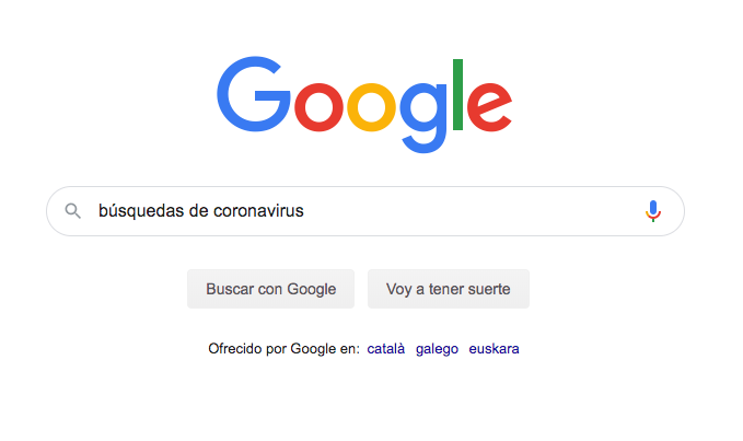 busquedas coronavirus
